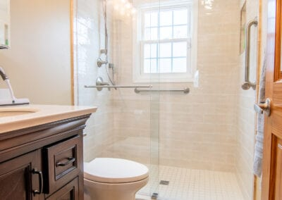 Golden Bathroom with Boston Rich Woods Bathrooms Modeling