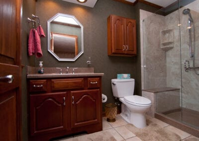 Paduak Wooden Bathroom Modeling
