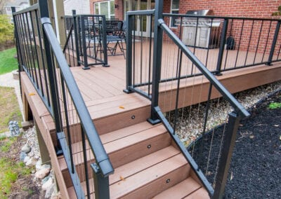 Polished Wood with strong fenced Deck Modeling