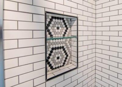 Patterned Wall Bathroom Modeling