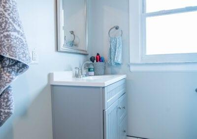 Aqua Blue Pattern Flooring Bathroom Modeling